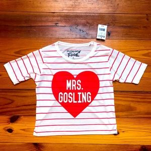 "Mighty Fine ""Mrs. Gosling"" Graphic Tee, NWT, S"